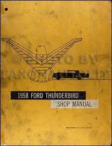 buy car manuals 1958 ford thunderbird on board diagnostic system 1958 ford thunderbird original repair shop manual 58 t bird tbird service ebay