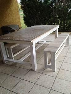 Table A Manger De Ma Terrasse Construite A Partir De