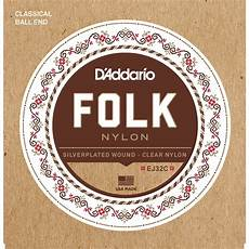 D Addario Ej32c Folk Classical Guitar Strings Ej32c B H