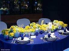 idées déco mariage decoration mariage jaune et bleu