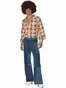 look disco homme 70 s look denim patchwork mens 233 vas 233 s pantalon disco