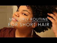 my curly hair routine for short natural hair youtube