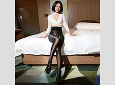 Fashion Pantyhose With High Waist Glossy Oil Shiny Detail 8D