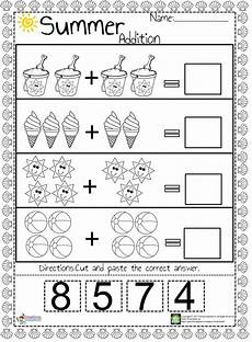 addition worksheets for senior kindergarten 9363 we prepared an easy and summer themed addition worksheet for preschool and kindergarten