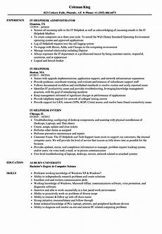 it helpdesk resume sles velvet
