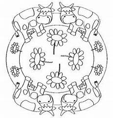 Ausmalbilder Mandala Bauernhof Animals Mandala Coloring Page Crafts And Worksheets For