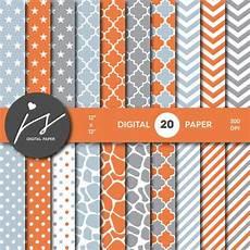 grey orange seamless paper pattern digital by