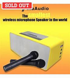 Bluetooth Speaker Wireless Microphone Audio Living by Tina Audio 352 The Smallest Bluetooth Wireless Microphone