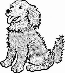 Ausmalbilder Zum Drucken Tier Mandalas Kostenloses Ausmalbild Hund Welpe Die Gratis Mandala