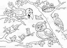 at the zoo woodland animals forest birds illustration