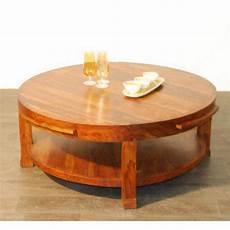 Table Basse Palissandre Ronde Mobilier Decotaime Fr