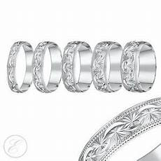 18ct white gold ring heavy weight court shaped diamond cut wedding band ebay