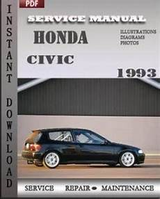 service and repair manuals 1993 honda civic instrument cluster honda civic 1993 service manual download repair service manual pdf