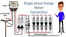 single phase meter wiring diagram energy meter energy meter connection by earthbondhon youtube