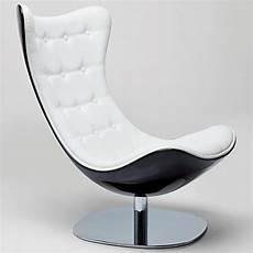 kare design relaxsessel aus kunstleder weiss drehbar mit