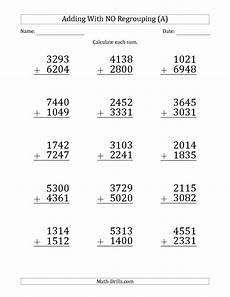 addition 3 digits without regrouping worksheets 9564 4 digit addition without regrouping worksheets math drills worksheets teaching