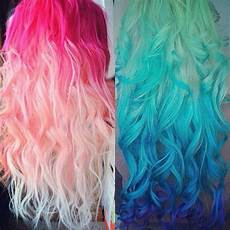 Bright Hair But Beautiful Ombre Pink And Blue