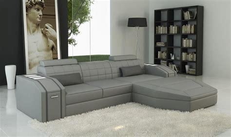 Divani Casa 5038b Modern Grey Bonded Leather Sectional