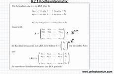 6 2 1 koeffizientenmatrix