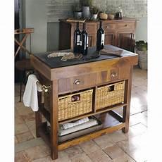 meuble de cuisine maison du monde billot en bois luberon de sheesham massif et ardoise en