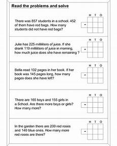 fraction worksheets 3965 subtraction word problems worksheets addition and subtraction word problems ccss 2 oa 1
