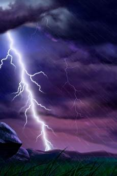 cg fantasy storm lightning strikes twice ipad iphone hd wallpaper free