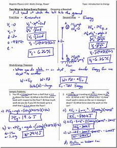 work energy theorem worksheet doc kinetic energy archives regents physics