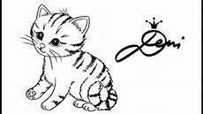 Bilder Zum Nachmalen Leicht Tiere How To Draw A Kitten S 252 223 Es K 228 Tzchen Zeichnen