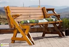 table pique nique transformable en banc bois 195 cm