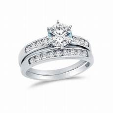 aa jewels 14k white gold cz cubic zirconia bridal
