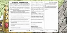 ks2 recognising standard english worksheet ks2 fantasy story the wyrmstooth