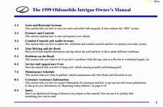 chilton car manuals free download 1999 oldsmobile intrigue on board diagnostic system oldsmobile intrigue 1999 owner s manual pdf online download