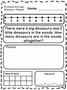 word problem worksheets kindergarten 11061 dinosaur theme addition subtraction word problems kindergarten