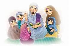 Gambar Kartun Muslimah Keluarga Koleksi Gambar Hd