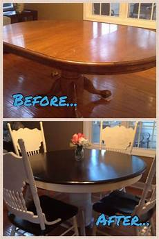 Kitchen Makeover Jj by Breakfast Table Makeover With Java Gel Stain And