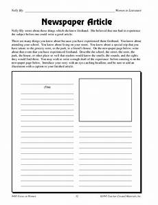 newspaper article worksheet for 5th 6th grade lesson planet