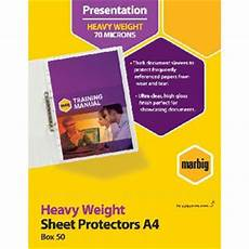 marbig a4 heavy weight sheet protector 50 officeworks
