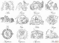 zodiac signs by marvolo san coloring page free