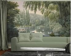 papier peint panoramique lac des cygnes 2 papiers de