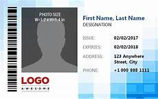 employee id card template free excel 14 free id badge templates word excel pdf templates