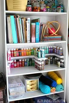craft room organizer spicy shelf a and a glue gun