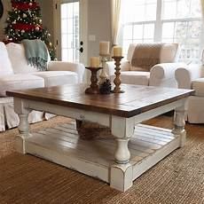 white harvest coffee table