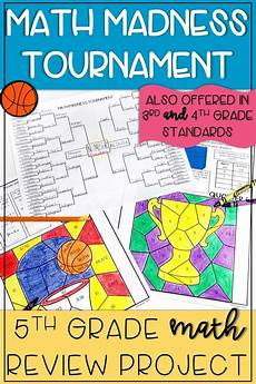 march madness math review packet 5th grade math