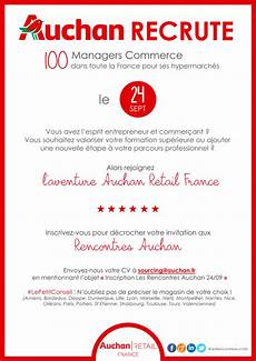 auchan recrute 100 managers commerce