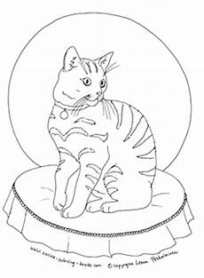 Katze Sitzend Malvorlage Tabby Cat Coloring Pages At Getcolorings Free
