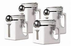 oggi kitchen canisters new oggi handles set of 4 white kitchen ceramic canisters
