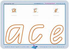 letter formation worksheets queensland 23274 qld modern cursive font handwriting worksheets teaching resources prep primary alphabet tracing
