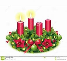 de brandende kaars advent wreath two stock foto