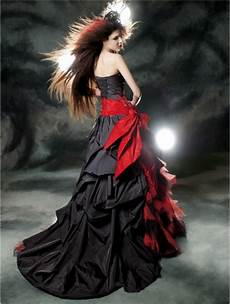 wedding dresses red and black red and black gothic wedding dress devilnight co uk