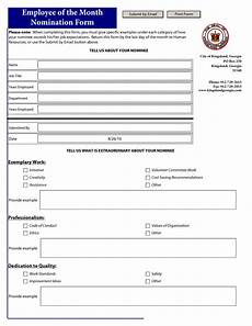 employee of the month nomination template pdf employee recognition employee recognition